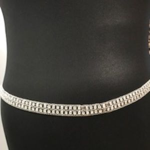 Sale!! Vintage Rhinestone Chain Belt